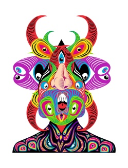 """PROCESO DE OBRA. """"DEMONIO DE LOS SENTIDOS"""". Obra realizada para el festival MYSTERYLAND 2011. Madera de pales reutilizada, pintada con esmalte al agua. 2011"""