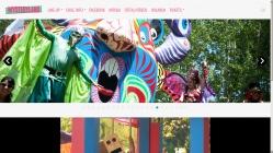 """MYSTERYLAND CHILE WEB. """"DEMONIO DE LOS SENTIDOS"""". Obra realizada para el festival MYSTERYLAND CHILE 2011. Madera de pales reutilizada, pintada con esmalte al agua. 2011"""
