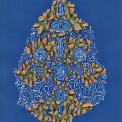 """""""SERIE ATLAS DE UN CUERPO CON MUCHAS CAPAS Y CAPAS CON MUCHOS CUERPOS"""". Acrílico sobre papel. 21 x 29,5 cm. 2012"""