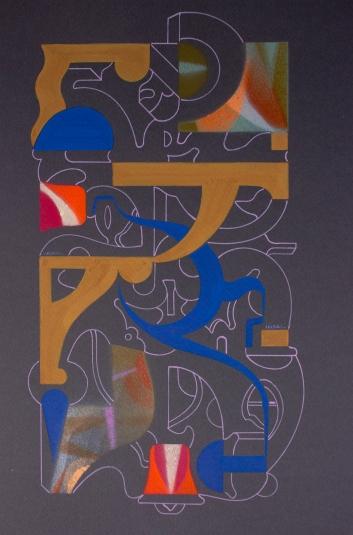 """Díptico """"Dos cuentos antiguos"""". Acrílico (Spray y tinta) sobre papel Canson. 21,5 x 32,9 cm. 2018 – 2021"""